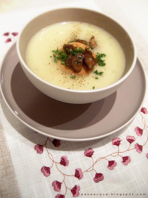 crema-di-patate-funghi-e-crostini-per-evelina - Pane e..